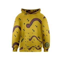 Swimming Worms Kids  Pullover Hoodie