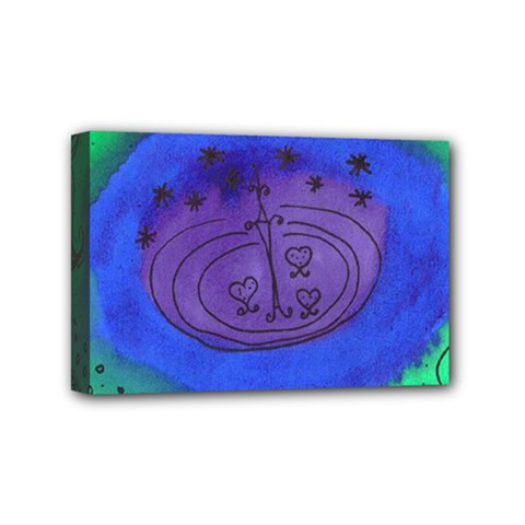 Starry Egg Mini Canvas 6  X 4