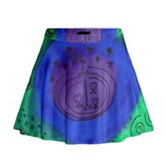Starry Egg Mini Flare Skirt