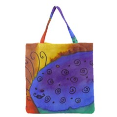 Whale And Eggs Grocery Tote Bag