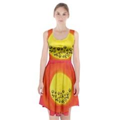 Red Sun Racerback Midi Dress