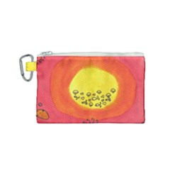 Red Sun Canvas Cosmetic Bag (small) by snowwhitegirl