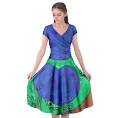 Peacocks Cap Sleeve Wrap Front Dress