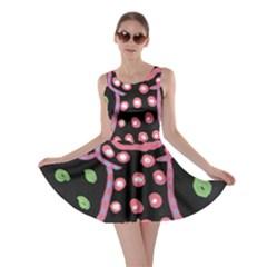 Dress And Falling Leaves Skater Dress