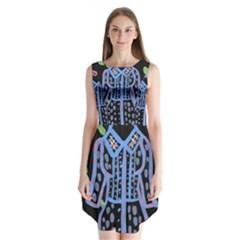 Dress And Flowers Sleeveless Chiffon Dress