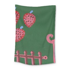Floating Strawberries Small Tapestry