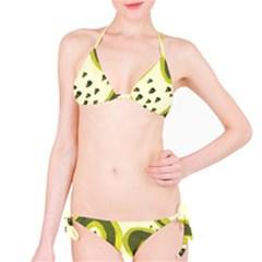 Yellow Swirls Classic Bikini Set