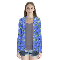 Raining Leaves Drape Collar Cardigan
