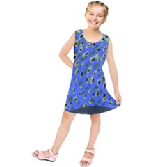 Raining Leaves Kids  Tunic Dress