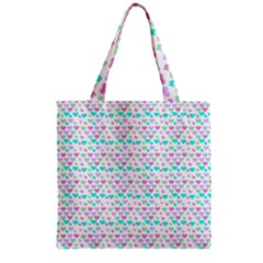 Hearts Butterflies White 1200 Grocery Tote Bag