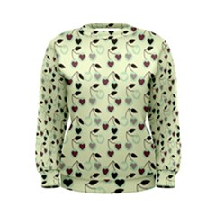 Heart Cherries Mint Women s Sweatshirt