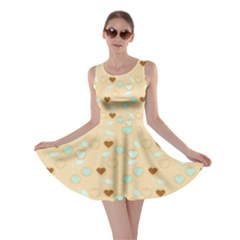 Beige Heart Cherries Skater Dress