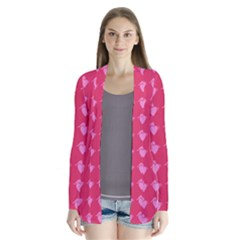 Punk Heart Pink Drape Collar Cardigan by snowwhitegirl
