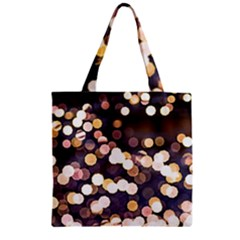 Bright Light Pattern Zipper Grocery Tote Bag by FunnyCow