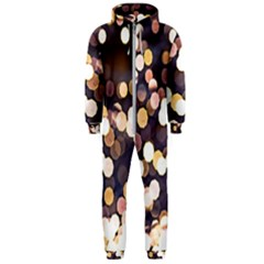 Bright Light Pattern Hooded Jumpsuit (men)