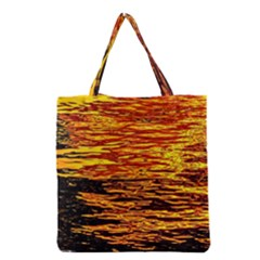 Liquid Gold Grocery Tote Bag by FunnyCow