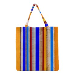 Colorful Wood And Metal Pattern Grocery Tote Bag