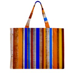 Colorful Wood And Metal Pattern Zipper Mini Tote Bag by FunnyCow