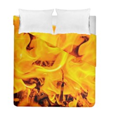 Fire And Flames Duvet Cover Double Side (full/ Double Size)