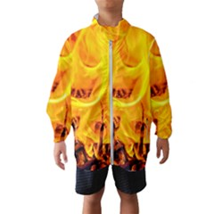 Fire And Flames Windbreaker (kids)