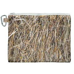 Dry Hay Texture Canvas Cosmetic Bag (xxl)