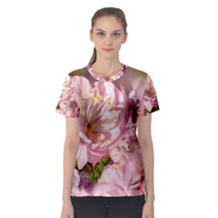 Beautiful Flowering Almond Women s Sport Mesh Tee