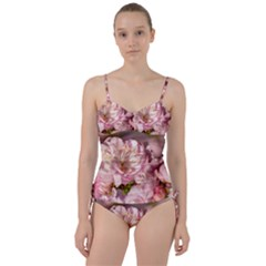 Beautiful Flowering Almond Sweetheart Tankini Set by FunnyCow