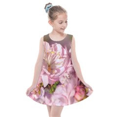 Beautiful Flowering Almond Kids  Summer Dress by FunnyCow
