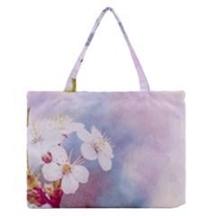 Pink Mist Of Sakura Zipper Medium Tote Bag by FunnyCow