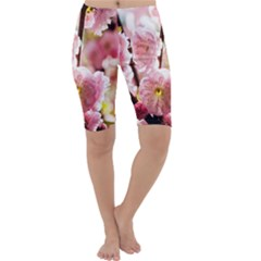 Blooming Almond At Sunset Cropped Leggings