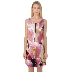 Blooming Almond At Sunset Sleeveless Satin Nightdress
