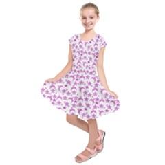 Violet Winter Hats Kids  Short Sleeve Dress