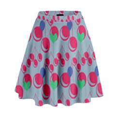 Bubblegum Cherry Blue High Waist Skirt