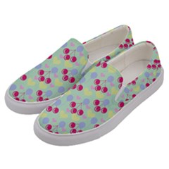 Birthday Cherries Men s Canvas Slip Ons by snowwhitegirl