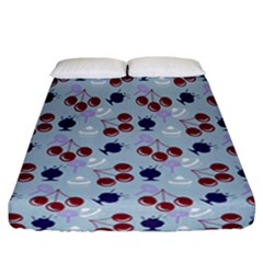 Sky Cherry Fitted Sheet (california King Size)