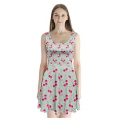 Bubblegum Cherry Split Back Mini Dress