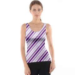 Violet Stripes Tank Top
