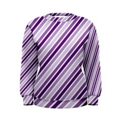 Violet Stripes Women s Sweatshirt