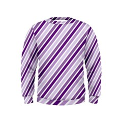 Violet Stripes Kids  Sweatshirt