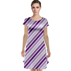 Violet Stripes Cap Sleeve Nightdress