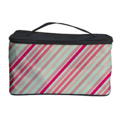Candy Diagonal Lines Cosmetic Storage Case