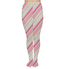 Candy Diagonal Lines Women s Tights