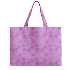 Lilac Dress Zipper Mini Tote Bag