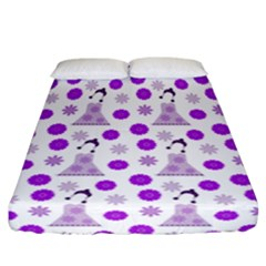 Lilac Dress On White Fitted Sheet (california King Size)
