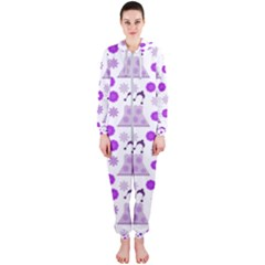 Lilac Dress On White Hooded Jumpsuit (ladies)