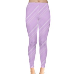 Lilac Diagonal Lines Leggings