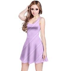 Lilac Diagonal Lines Reversible Sleeveless Dress