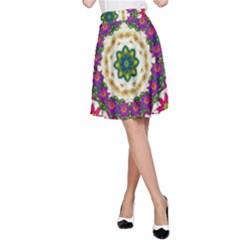 Fauna Fantasy Bohemian Midsummer Flower Style A Line Skirt