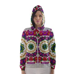 Fauna Fantasy Bohemian Midsummer Flower Style Hooded Windbreaker (women)