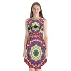 Fauna Fantasy Bohemian Midsummer Flower Style Sleeveless Chiffon Dress